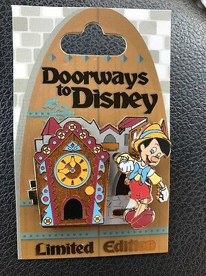 Doorways To Disney Pin Pinocchio Jimmeny Cricket Clock Limited Edition 4000