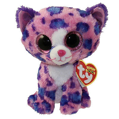 TY Beanie Boos - REAGAN the Pink Leopard (Glitter Eyes) (6 inch) *Limited Excl*