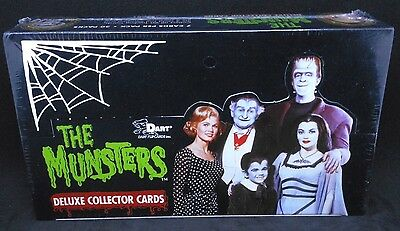 """1996 Dart  """"munsters""""  Deluxe Collectors Factory Sealed Card Box"""
