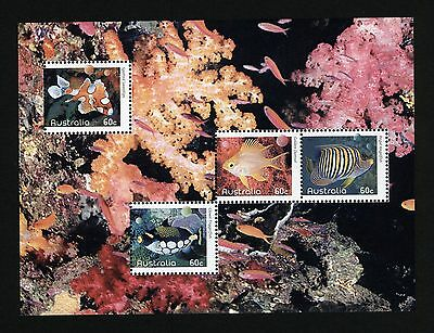 "Australia Exclusive ""Reef Fish' mini sheet from 2010 Annual Collection"