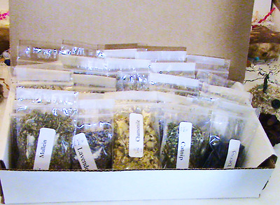 Choose 60 2x3 bags of Wiccan/Pagan Herbs for your Witchcraft Altar Kit-Herbs for