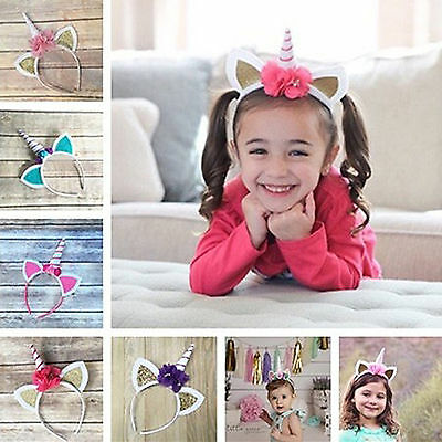 Unicorn Horn Head  kid's gift perfect Cosplay Costume Hair Headband Party props