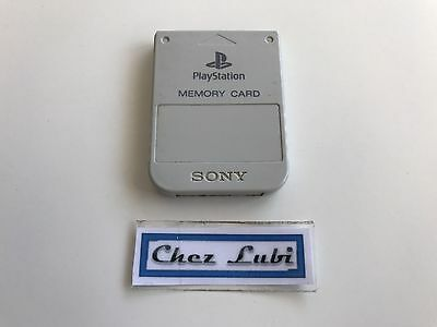 Carte Mémoire Grise Officielle - Sony PlayStation PS1 PS2 - PAL