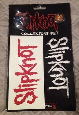 Slipknot 4pc Collectors Gift Set 2 Pins Sticker And Patch New Sealed