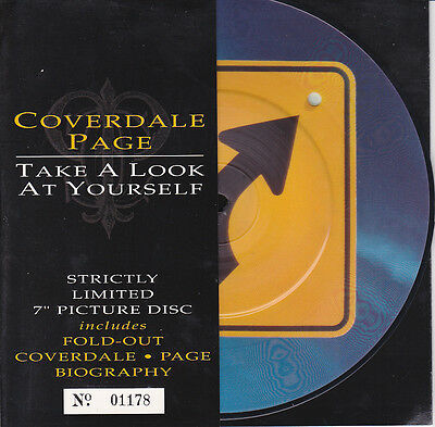 """Coverdale/Page 7"""" Pic Disc. Take A Look At Yourself  Ltd No.Edit 1178  (1993)"""