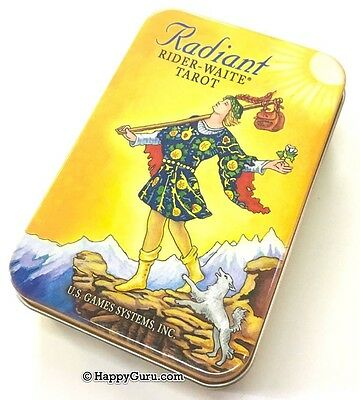 """radiant In A Tin"" Rider Waite Tarot Cards 78 Card Deck + Booklet (Tin)"