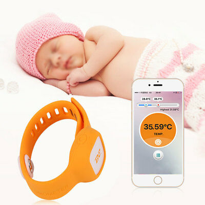 Smart Safe Wireless Bluetooth Wristband Thermometer Baby Temperature Monitor DY