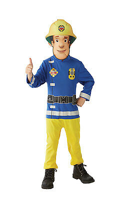 Fancy Dress Costume ~ Childs Classic Fireman Sam Costume Age 2-6 Years