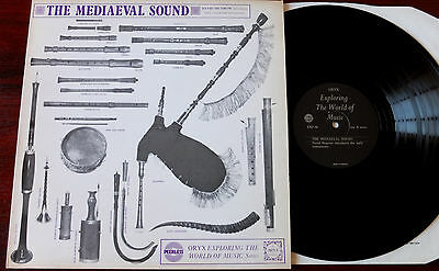 David Munrow The Mediaeval Sound Lp Early Woodwind Instr. Nm Oryx Exp 46 (1970)