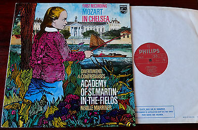 Philips 6500 367 Mozart In Chelsea Divertimenti Lp Marriner Nm England (1972)