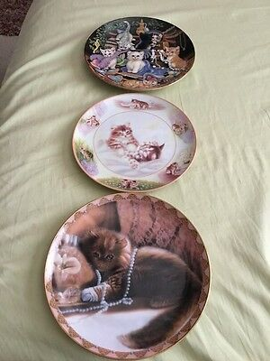 3 Bradford Exchange Cats Plates