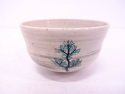 3013690: Japanese Tea Ceremony / Chawan (Tea Bowl) / Kinsai Iroe / Pine