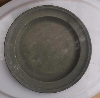 Old French Pewter Plate #CH2
