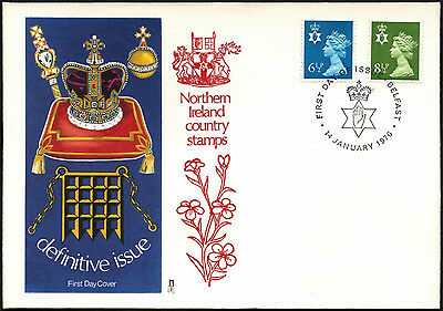 GB FDC 1976 Northern Ireland Regionals Definitives First Day Cover #C41790