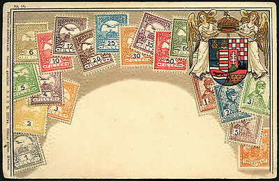 Hungary 1900's Embossed Stamps Illustrated Postcard #C41670
