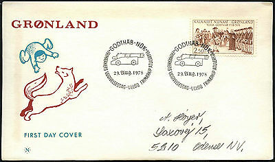 Greenland 1978, 250th Anniv Of Godthab FDC First Day Cover #C41481