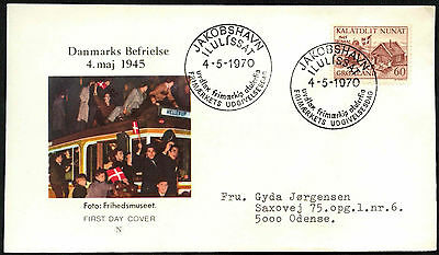 Greenland 1970 Denmark Liberation 25th Anniv FDC First Day Cover #C41468