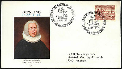 Greenland 1971 Hans Egede FDC First Day Cover #C41467