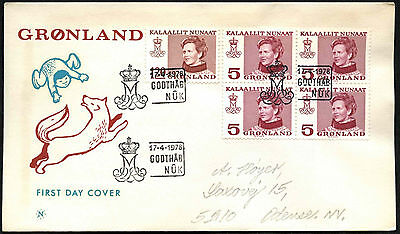 Greenland 1978, 5ore Queen Margrethe Definitive FDC First Day Cover #C41478