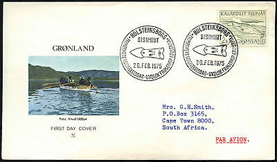 Greenland 1975, 2k Narwhal FDC First Day Cover #C41460