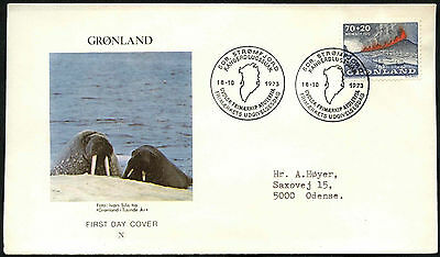 Greenland 1973 Heimaey Eruption FDC First Day Cover #C41464