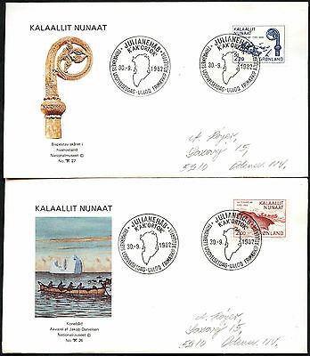 Greenland 1982 Millenary Of Greenland FDC First Day Cover Set #C41424