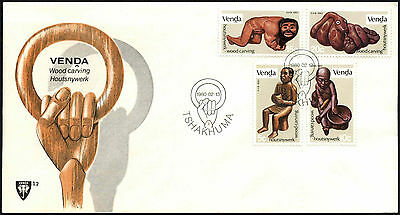 Venda 1980 Wood Carvings FDC First Day Cover #C41536