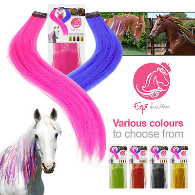 Equifashion Horse & Pony Unicorn Hair Colour Mane & Tail Extensions - PACK OF 3