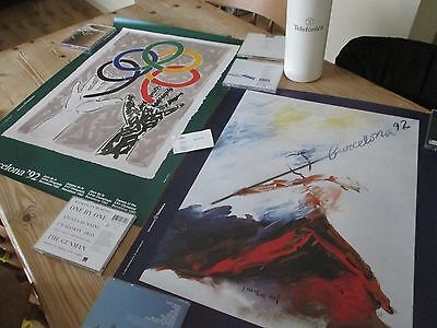 Vintage 1992 Barcelona Olympics Posters In Tube From Olympic Committee !