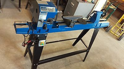 Used Draper WTL90 wood lathe PAT tested with drive centre tail stock centre & FP