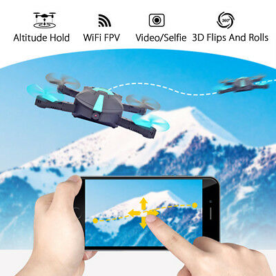 4CH Pocket Mini Faltbare G-Sensor Kamera WIFI FPV RC HD Quadcopter Selfie Drone
