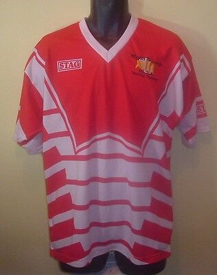 """Official WIGAN & LEIGH #20 Vintage Stag Rugby Shirt (40"""")"""