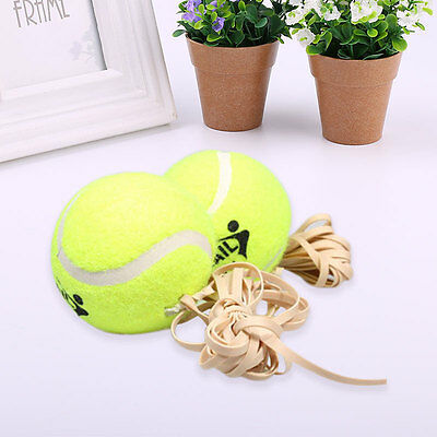 Sports Tennis Training Ball With Rubber Rope Beginners Trainer Train Tool