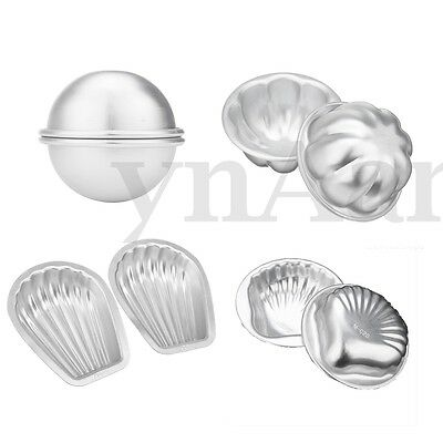 4 Sets 8Pcs Petal Shell Scallop Hemisphere Bath Bomb Molds DIY Cake Moulds Kit