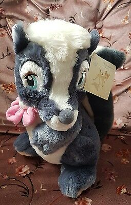disney store exclusive flower soft plush toy skunk from bambi stamped
