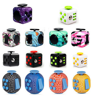 Funny Magic Fidget Cube Anxiety Stress Relief Focus 6-side Gifts Adult Kids Toy
