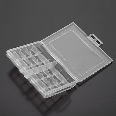 Useful 1x Hard Plastic Battery Case Box Holder Storage for 10 AA/AAA Batterie FT