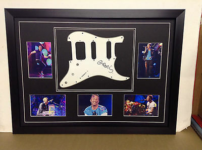 Chris Martin (Coldplay) Hand Signed/Autographed Guitar Plate with COA