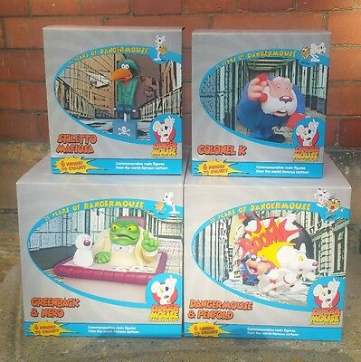 Danger Mouse 25 Years Of Dangermouse Statues Set Of Four Concept 2 Creations