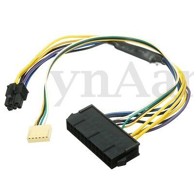 For HP Z220 Z230 SFF Mainboard ATX PSU Power Cable 24pin to 2-port 6pin 18 AWG