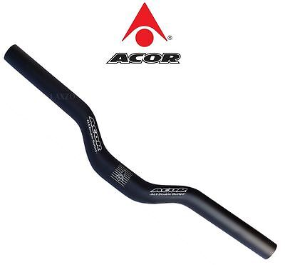 Acor Alloy MTB Low-Rise 30mm Handlebar Double Butted  25.4 x 680mm Bore Black