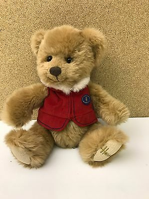 Harrods Teddy Bear Red Waistcoat Excellent Condition