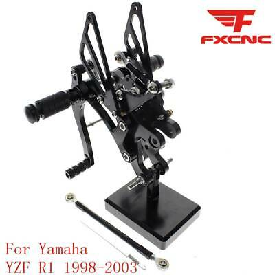 For YAMAHA YZF R1 1998-2003 2002 2001 2000 Footpegs Rearsets Rear Set Motor