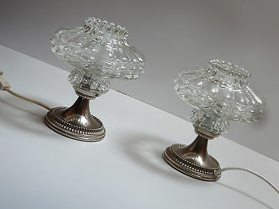 2 TISCHLAMPEN LESE LAMPEN Paar  21 cm versilbert 60er 60s pair of table lamps