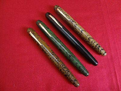 Ranga Ebonite Fountain Pen-Ripple Model 4C-German Schmidt Screw Nib & Converter