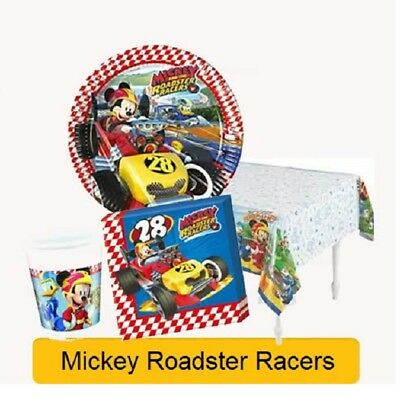 Disney MICKEY MOUSE AND THE ROADSTER RACERS Birthday Party Tableware Range