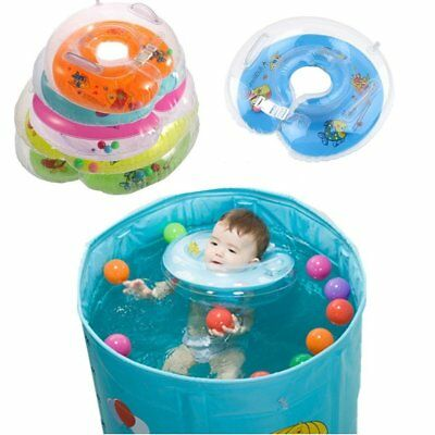 New Baby Aids Infant Swimming Neck Float Inflatable Tube bath Ring Safety ZZ