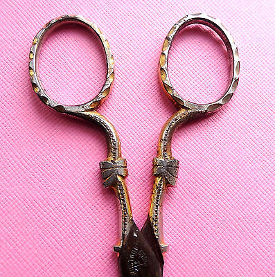 Antique 19Th C Sewing Scissors.german Solingen, Decorated Design Handles