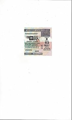 Everton v Liverpool Charity Shield Match Ticket Stub 1984
