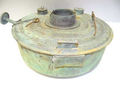 Antique Metal Copper Kerosene Gas Burner Perfection? 400 Series? Oil Heater Tank